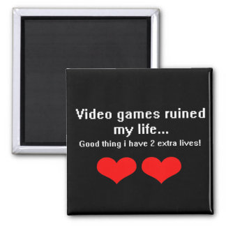 Video Games ruined my life... Refrigerator Magnets