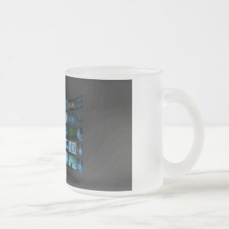 Video Marketing Across Multiple Channels Frosted Glass Coffee Mug