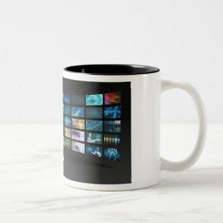 Video Marketing Across Multiple Channels Two-Tone Coffee Mug