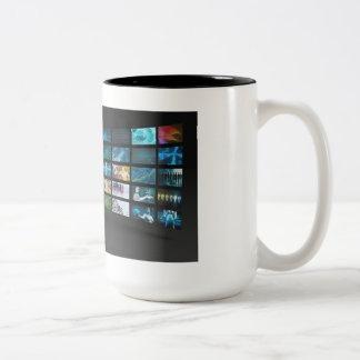 Video Marketing Across Multiple Channels Two-Tone Mug