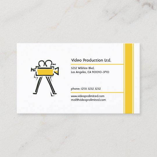 Video production business card zazzle video production business card reheart Image collections