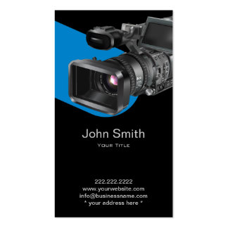 Video Recording Service Dark Business Card