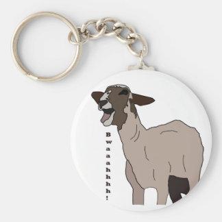 Video star goat screaming! basic round button key ring