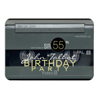 Video Tape VHS 55th Birthday Party Invitation