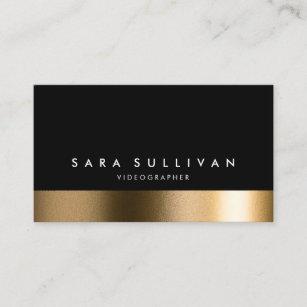Videographer business cards zazzle uk videographer bold black gold business card colourmoves
