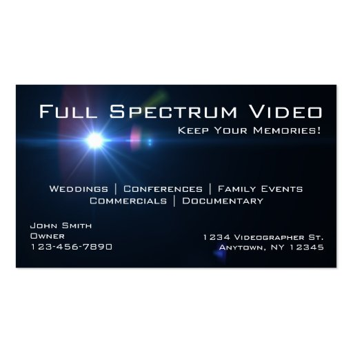 Videographer business cards business card template zazzle for Zazzle business card