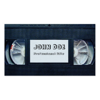 Videotape Pack Of Standard Business Cards