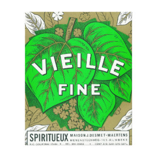 Vieille Fine Wine LabelEurope Canvas Print