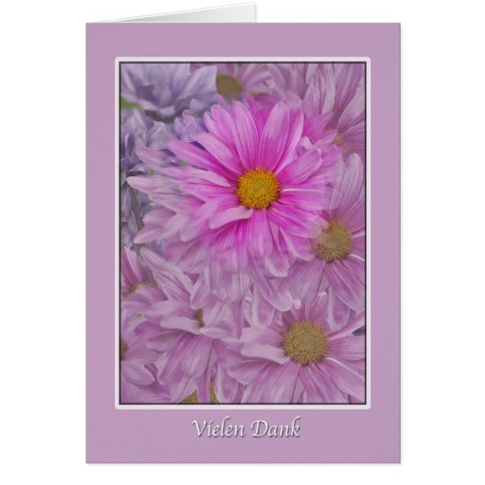 Vielen Dank, German, Thank You, Gerbera Daisies Card