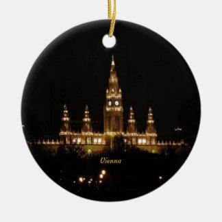 Vienna at Night Round Ceramic Decoration