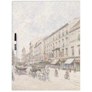 Vienna Austria 1900s City Horses Dry Erase Board