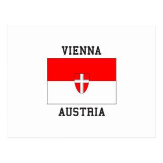 Vienna Austria Flag Postcard