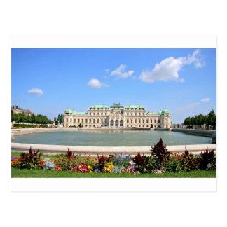Vienna BelPalace Gardens Postcard