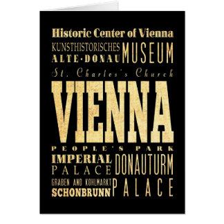Vienna City of Austria Typography Art Card