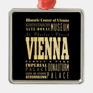 Vienna City of Austria Typography Art Christmas Ornament