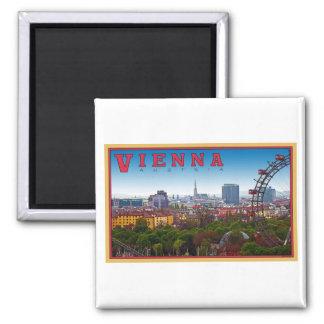 Vienna - Cityscape Square Magnet