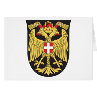 Vienna Coat Of Arms 19th Century Greeting Card
