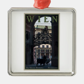 Vienna - Horse Carriage Christmas Ornament