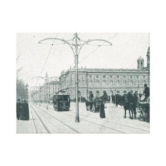 Vienna Lastenstrasse Tramways and archs Canvas Print