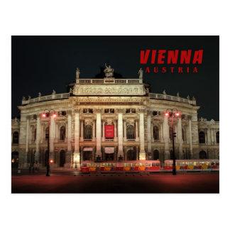 Vienna night lights postcard