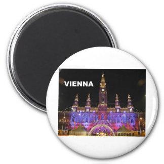 Vienna Rathaus Eistraum St K Refrigerator Magnet