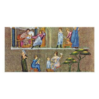 Vienna Scene Genesis: Joseph And The Wife Of Potip Customized Photo Card