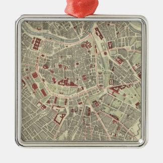 Vienna Silver-Colored Square Decoration