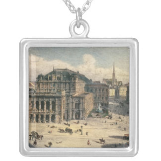 Vienna State Opera House, c.1869 Silver Plated Necklace