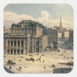 Vienna State Opera House, c.1869 Square Sticker