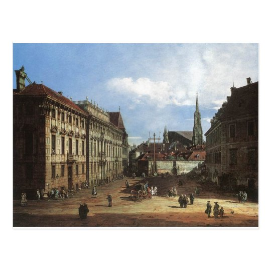 Vienna, the Lobkowitzplatz by Bernardo Bellotto Postcard