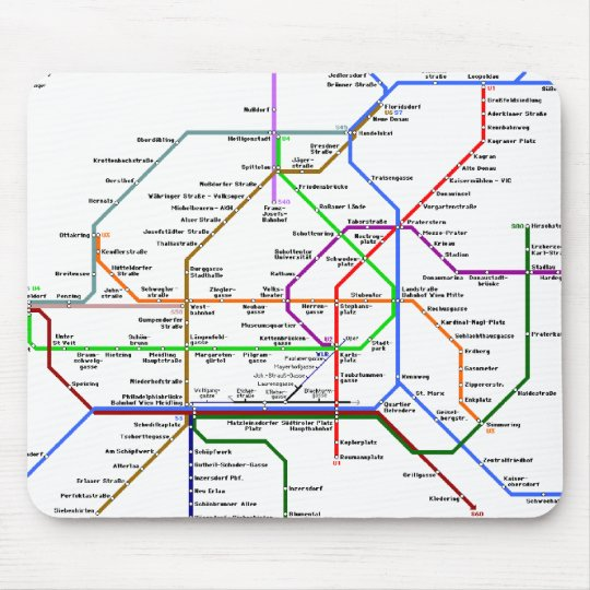 Vienna tube map Mousepad
