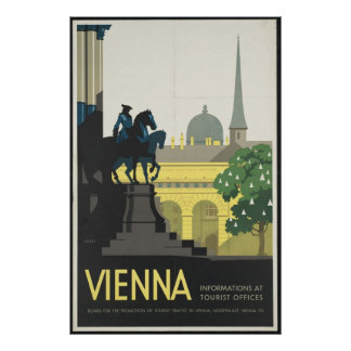 Vienna Vintage Travel Poster Ad Retro Prints