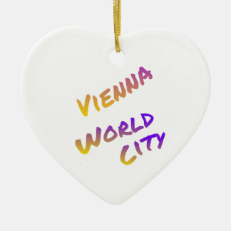 Vienna world city, colorful letter art italia christmas ornament