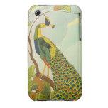 Viennese Art Nouveau Peacock iPhone 3 Cases