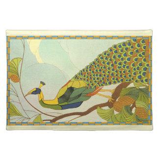 Viennese Art Nouveau Peacock Placemats