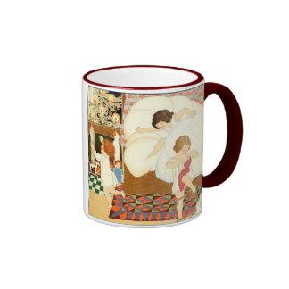 Viennese Christmas Children With Stockings Ringer Coffee Mug