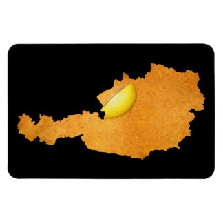 Viennese Schnitzel - Map Of Austria Rectangular Photo Magnet