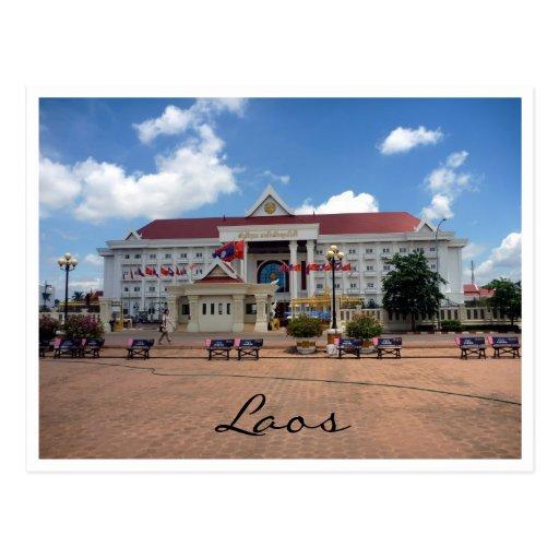 vientiane city laos post cards