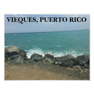 VIEQUES, PUERTO RICO POSTER