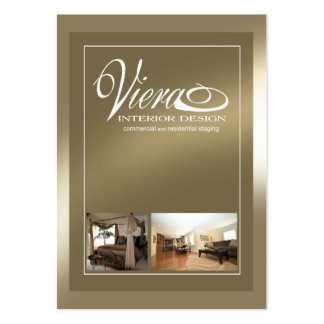 Viera Home Staging Interior Design (bronze) Pack Of Chubby Business Cards