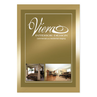 Viera Home Staging Interior Design (gold) Pack Of Chubby Business Cards