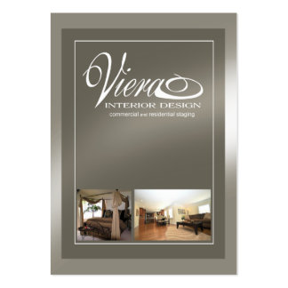 Viera Home Staging Interior Design (pewter) Pack Of Chubby Business Cards
