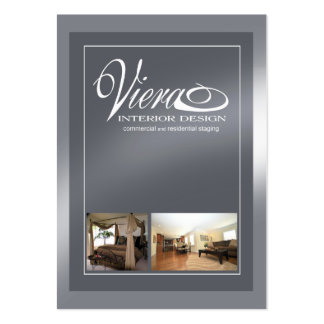 Viera Home Staging Interior Design (slate blue) Pack Of Chubby Business Cards