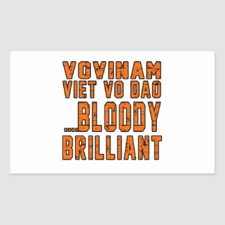 Viet vo Dao Bloody brilliant Rectangular Sticker