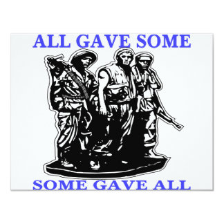 Vietnam All Gave Some & Some Gave All 11 Cm X 14 Cm Invitation Card