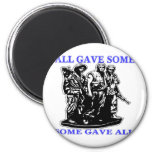Vietnam All Gave Some & Some Gave All 6 Cm Round Magnet