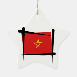 Vietnam Brush Flag Christmas Ornament