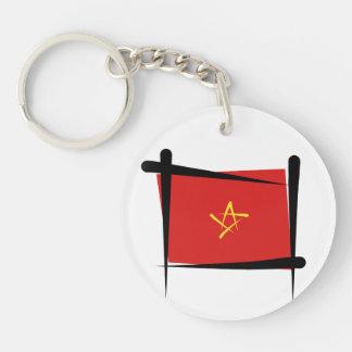 Vietnam Brush Flag Key Ring