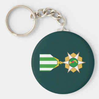Vietnam Campaign Medal Basic Round Button Key Ring