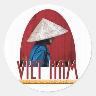 VIETNAM CLASSIC ROUND STICKER